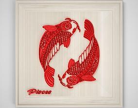 Pisces Frame 3D asset