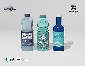 Bottles of water 3D asset