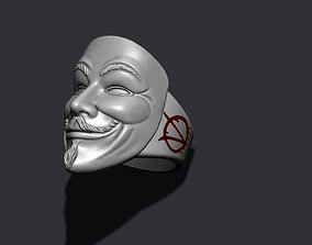 3D printable model Vendetta anonymous ring