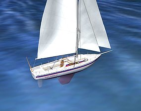 30 Foot Cutter Rigged Sloop V03 3D