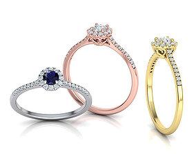 Halo Engagement ring Own design 3dmodel engagement