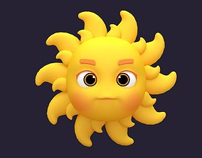 rigged Asset - Cartoons - Character - Sun - Hight Poly