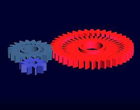 gear rotation animation 3D