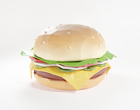 3D model game-ready Burger Low Poly