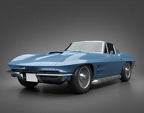 3D model 1966 Chevrolet Corvette chevrolet
