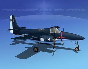 Grumman F7F Tigercat V02 3D model