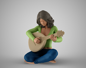 3D print model Oud Playing Woman