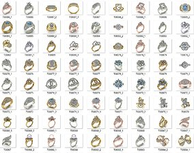 Collection 3d Ring Jewellery Models