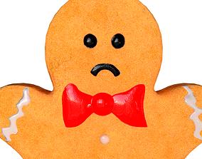 3D model Gingerbread Man Sad Face