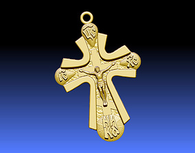 religiou-object Cross ortodox 3D print model
