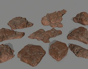 desert rocks other 3D model low-poly