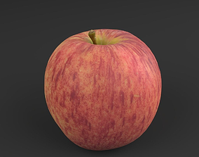 low-poly Apple Red 01 - 3D Scan
