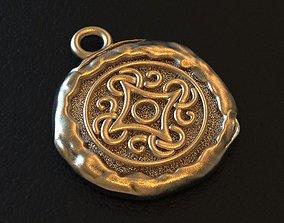 Viking ornament pagan symbol amulet 3D printable model 1