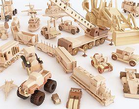 3D model Wooden toy vol 02