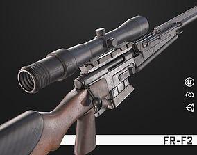 3D asset FR-F2 Sniper Rifle