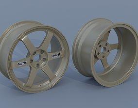 3D model Volk Racing TE37