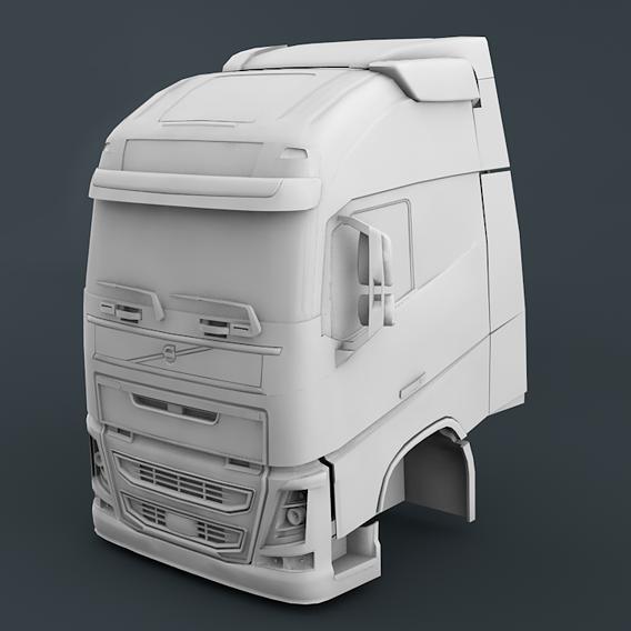Volvo FH16 Cabin - 3D Print Ready