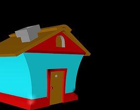 3dhouse cartoon house 3d