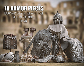 3D asset Roman Gladiator Armor Collection