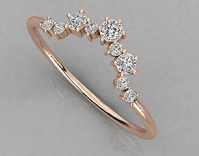 Women solitaire ring 3dm render detail wedding rings