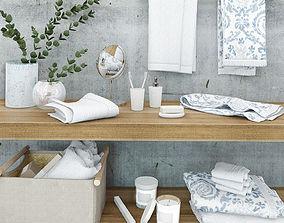 Bathroom accessories ZARA HOME 3D model towel