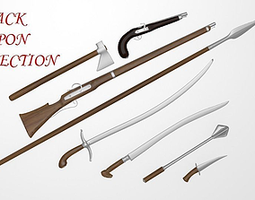 3D Cossack weapon collection