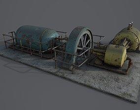 Diesel generator 3D model VR / AR ready PBR