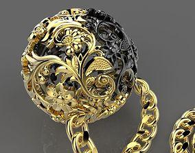 3D printable model pendant sphere