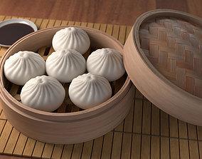 3D model Steamed Bun Baozi
