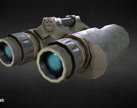 Stylized binocular 3D model VR / AR ready