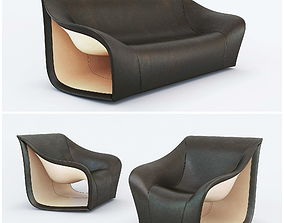 Split Sofa and Chair by Alex Hull 3D