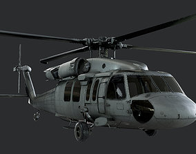 Sikorsky UH60 Black Hawk US Military Helicopter 3D 1