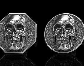 3D model skull earrings studs 2 rock