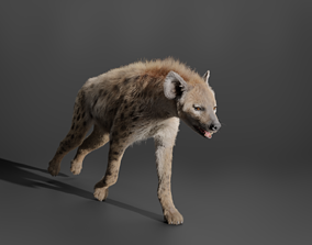 3D Spotted Hyena