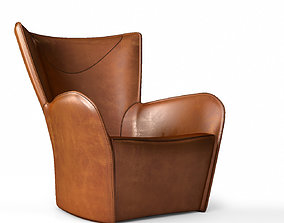 Molteni C Mandrague armchair leather version 3D