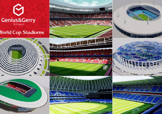 3D World Cup Stadiums - Russia 2018