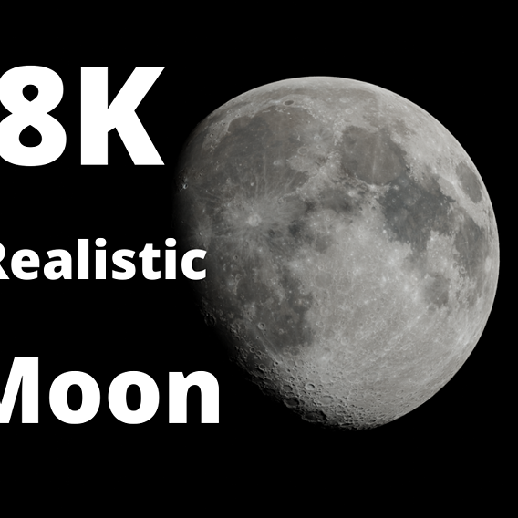 *Free* 8K Realistic Moon