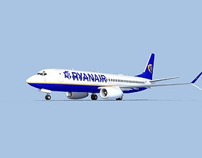 Boeing 737-800 Max Ryanair 3D model