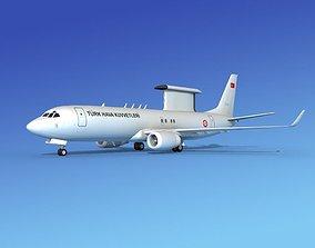 3D model Boeing E-8 Posiedon AEWS Turkey