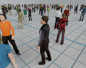 Low Poly Animated People Pack - 200 Pieces 3D model 1