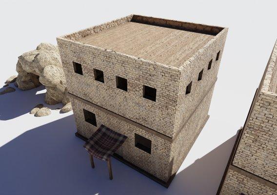 Lowpoly desert houses