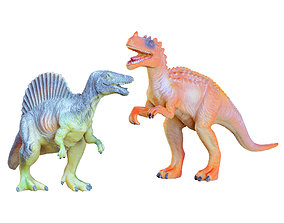 3D Two Toys Dinosaurs Spinosaurus and Ceratosaurus