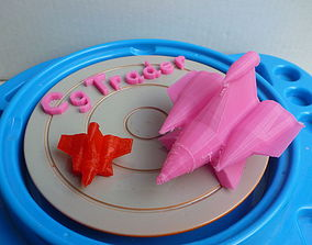 3D print model Rocket CGtrader Squared AAA