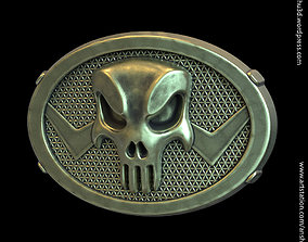 The Punisher skull vol1 belt buckle 3D print model