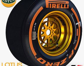 E23 Hard front tyre 3D asset
