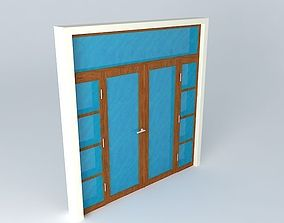 3D Main glass door