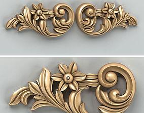 Carved decor horizontal 030 3D model