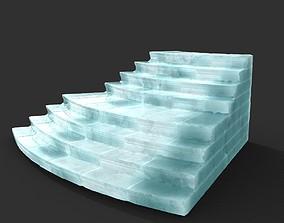 Low poly Ancient Roman Ruin Construction R6 - Ice 3D asset
