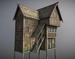 Medieval lake village - House 5 3D asset
