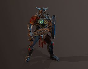 3D model animated Warrior